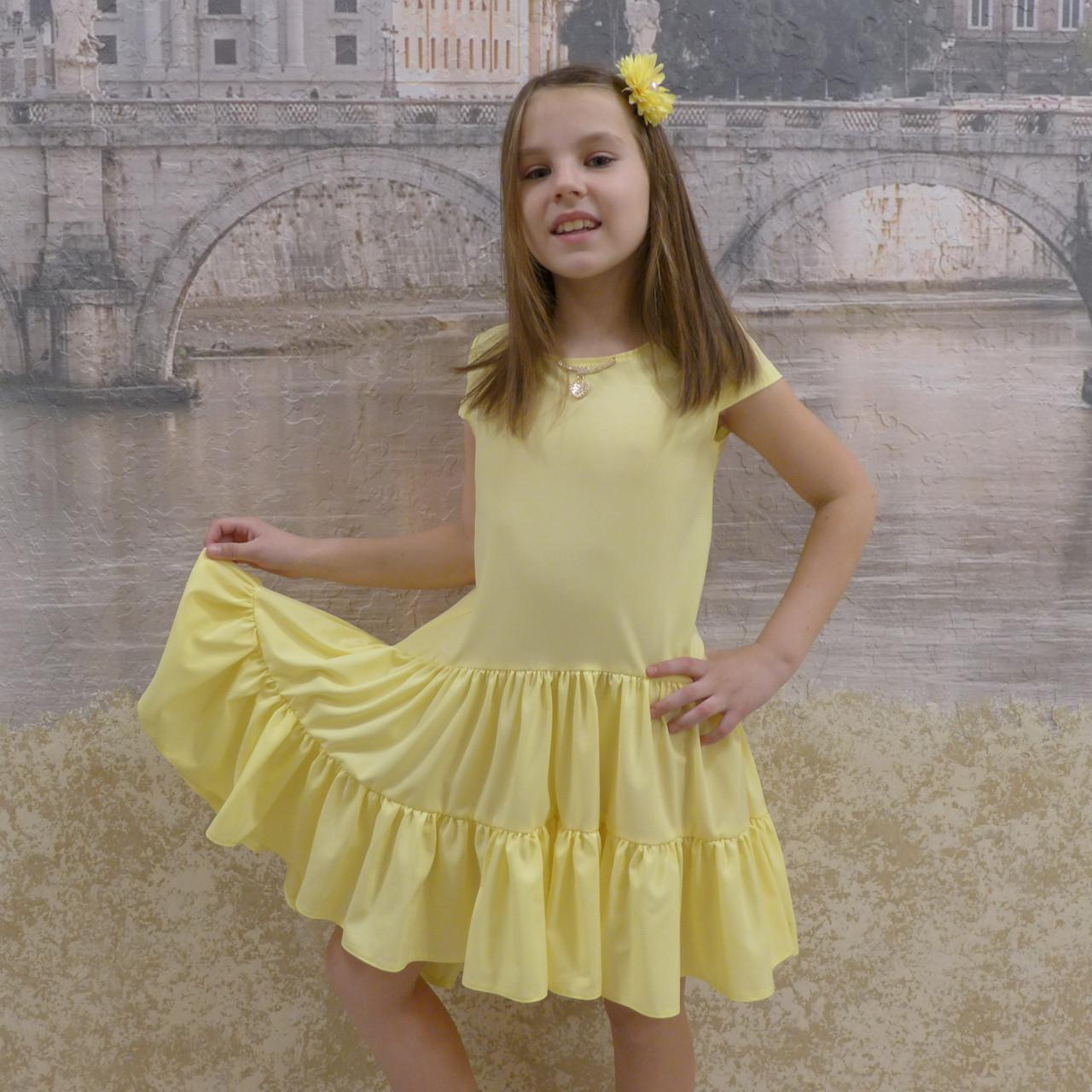 Платье (1018) желтый (хвостик)