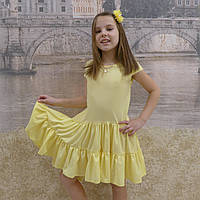Платье (1018) желтый (хвостик), фото 1