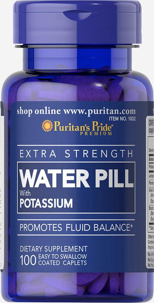 БАД мочегонные травы сильного действия,  Extra Strength Water Pill, Puritan's Pride, 100 таблеток