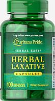 Слабительные травы натуральный комплекс при запорах, Herbal Laxative, Puritan's Pride, 100 капсул