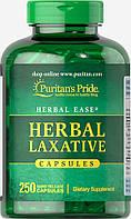 Слабительные травы натуральный комплекс при запорах, Herbal Laxative, Puritan's Pride, 250 капсул