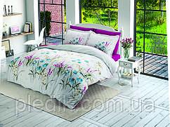 Комплект постельного белья 200х220 Ранфорс Halley Home Flower v1