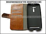 Коричневый чехол книжка K'try в эко коже для Asus Zenfone Go Zb552KL X007d + портмоне, фото 4