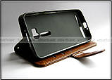 Коричневый чехол книжка K'try в эко коже для Asus Zenfone Go Zb552KL X007d + портмоне, фото 6