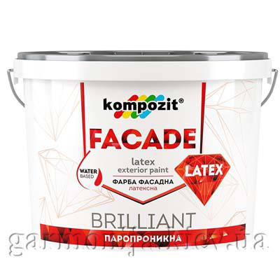 Фасадная краска FACADE LATEX Kompozit, 1.4 кг, фото 2