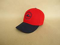 Бейсболка комбинированная красная