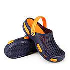 Кроксы шлепанцы сабо синие с оранжевым, размеры 36, 37, 38, 39, 40, 41, 42, 43, 44, 45, фото 2