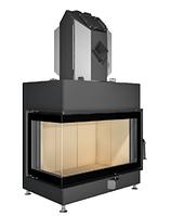 """Воздушный камин """"Gavryliv&Sons""""угловой с цельногнутым стеклом С-740 16 кВт с тепломодулем"""