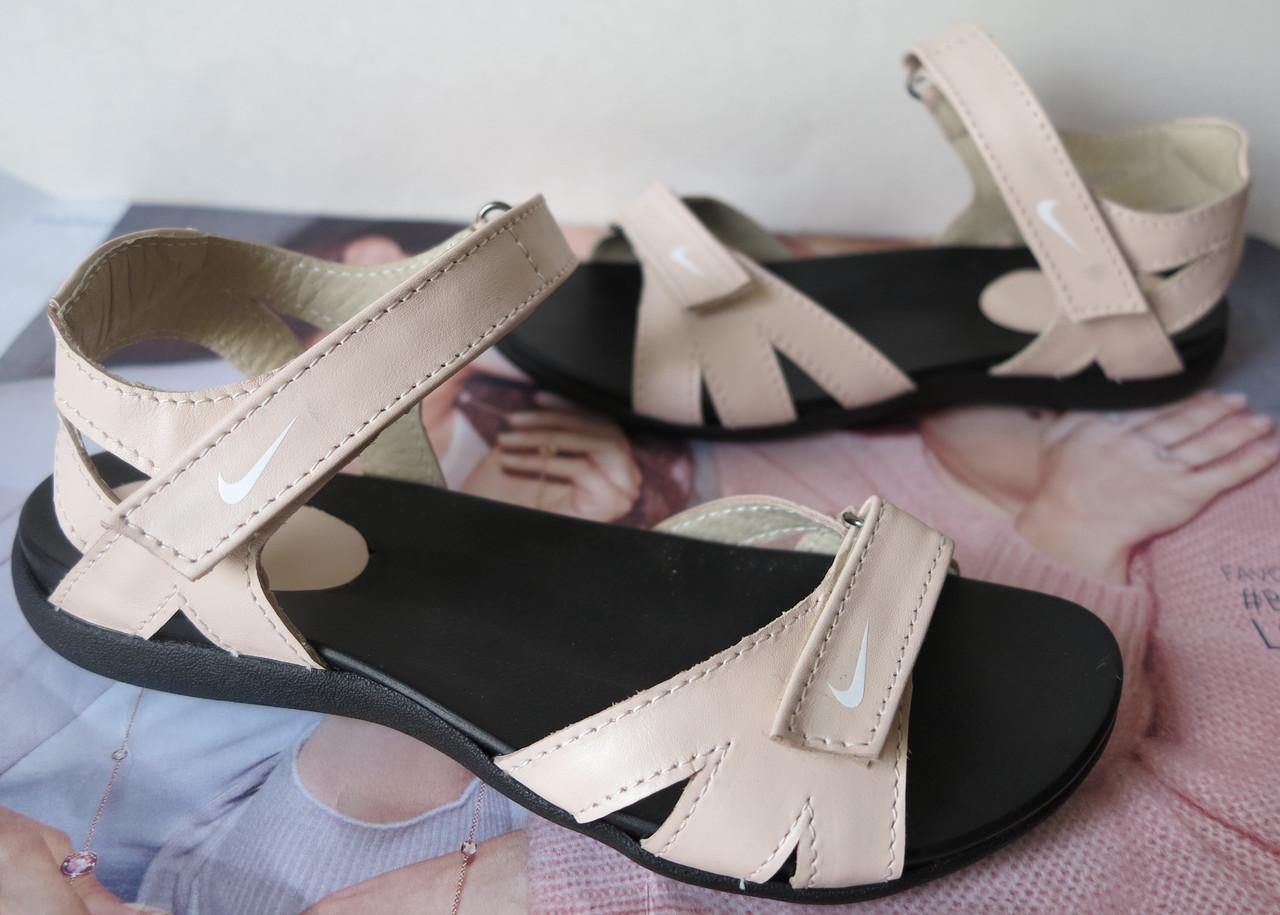Кожаные пудровые ! женские! сандалии реплика сандали !босоножки! летняя  обувь 677c9ea8438