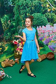 Платье для девочки Камила р.128-146 голубое