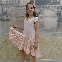 Платье (1018) нежно-розовый (хвостик), фото 1