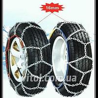 Цепи на колеса для машины КВ380 размер 16 мм, 4WD, цепи противоскольжения, техпомощь, цепь на колесо