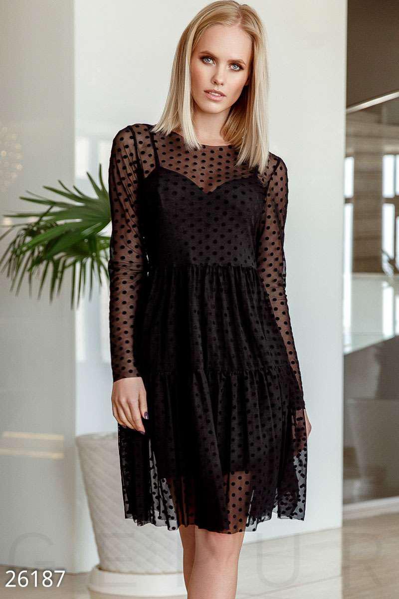 d8ecc095510 Эффектное платье-сетка