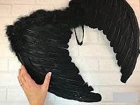 Крылья черные перьевые карнавальные 52*40 см