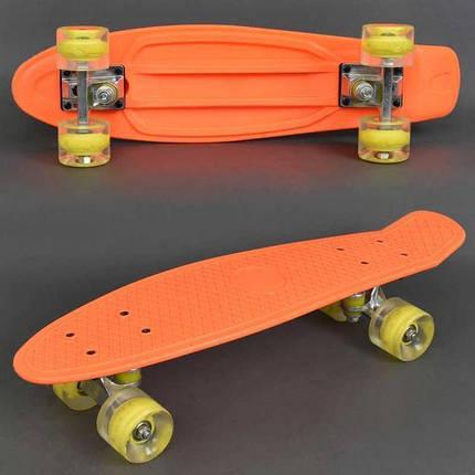 Скейт 0730, доска 55 см, колёса PU свет, d=6см, фото 2