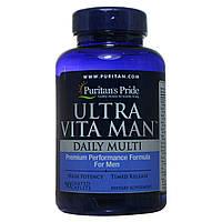 Мультивитаминный комплекс для мужчин Ultra Man, Puritan's Pride, 90 таблеток, фото 1