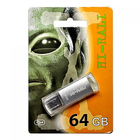 Флешка usb flash Hi-Rali 64GB Rocket series Silver
