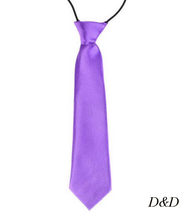 Детский галстук атласный фиолетовый