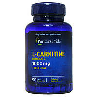 Карнитин, L-carnitine, Puritan's Pride, 1000 мг 90 капсул
