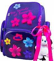Рюкзак Delune 6-117 школьный с мишкой и рюкзаком для сменки детский для девочек 28 см х 14 см х37 см