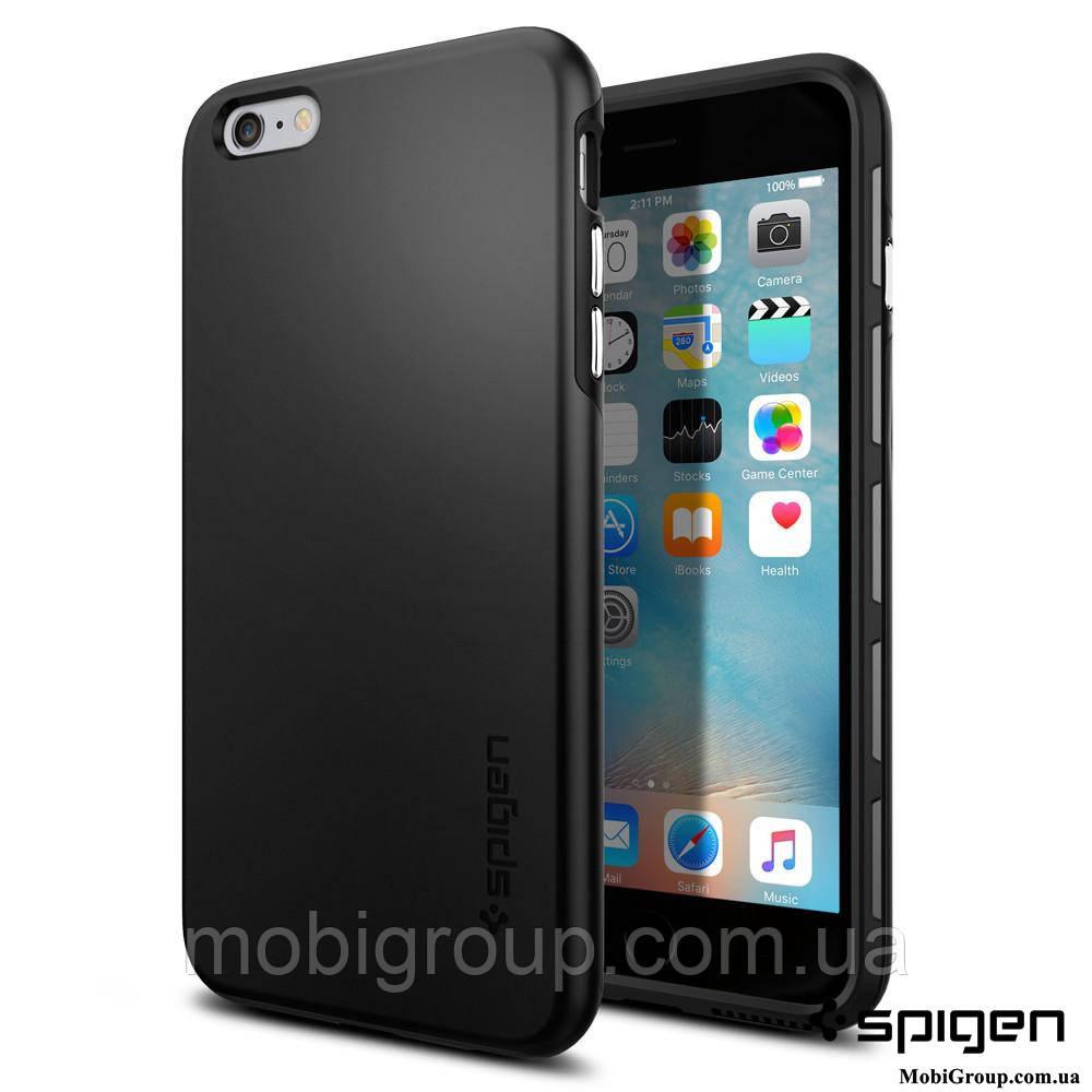 Чехол Spigen для iPhone 6S Plus/6 Plus Thin Fit Hybrid, Black