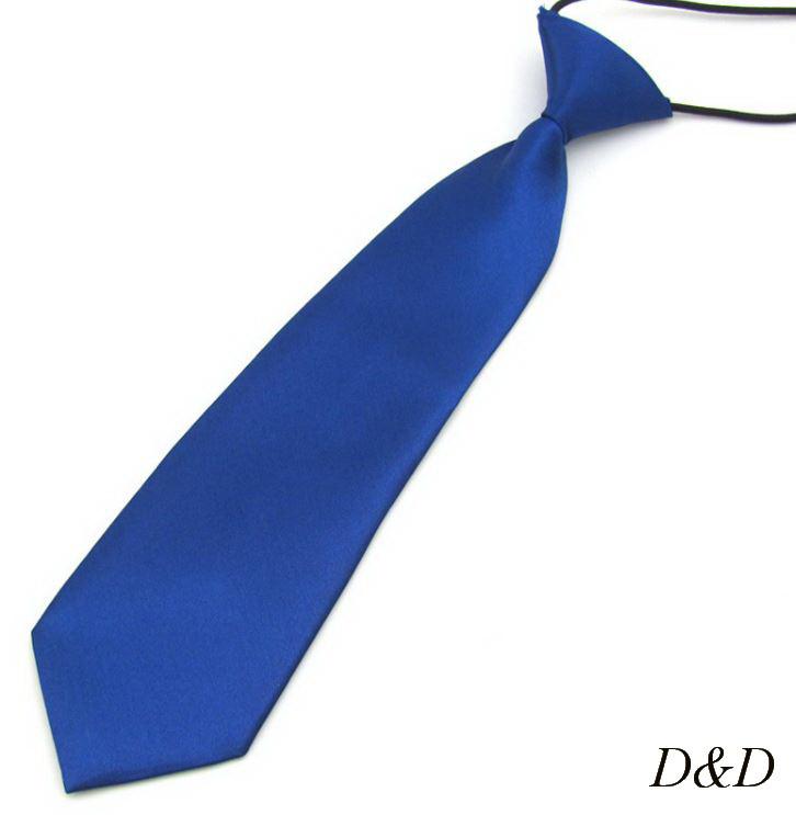 Детский галстук атласный синий