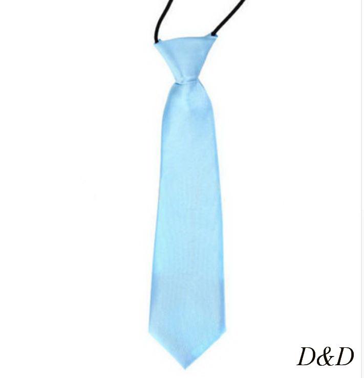 Детский галстук атласный голубой