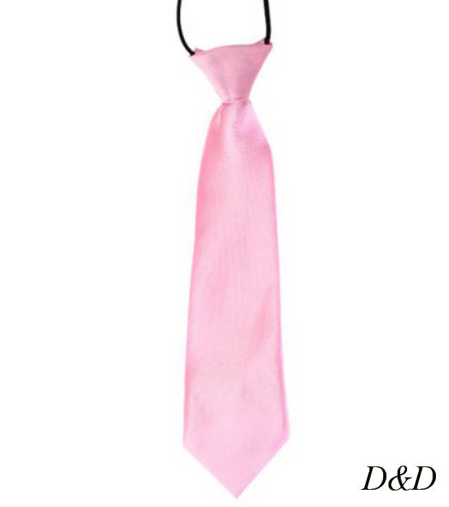 Детский галстук атласный розовый