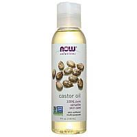 Касторовое масло для волос и кожи Castor Oil, Now Foods 118 мл