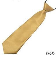 Детский галстук атласный золотой