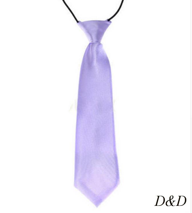 Детский галстук атласный сиреневый