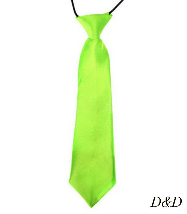 Детский галстук атласный салатовый