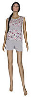 Комплект пижама для беременных и кормящих Меланж с шортами, р.р.42-48