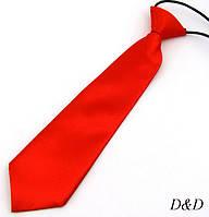 Детский галстук атласный красный