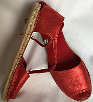 Босоножки женские, Испания, красные, большой размер, натуральная кожа размер, 40/41, фото 1
