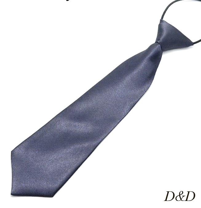 Детский галстук атласный темно-серый