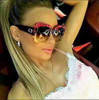 Женские очки круглой формы Gucci трехцветная оправа