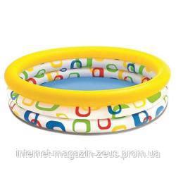 Дитячий надувний басейн Intex 58449 «Геометрія», 168 х 41 см
