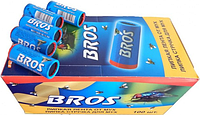 Липкая лента от мух «Брос» (Bros) круглая, оригинал, набор 100 штрук