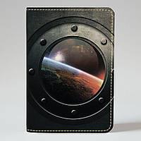 Обложка на паспорт Fisher Gifts 526 Млечный путь в иллюминатор (эко-кожа)