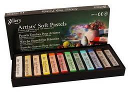 Пастель сухая, профессиональная, мягкая, 12 цветов, квадратная, MPV-12, MUNGYO