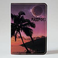 Обложка на паспорт Fisher Gifts 742 Пальма у моря (эко-кожа)