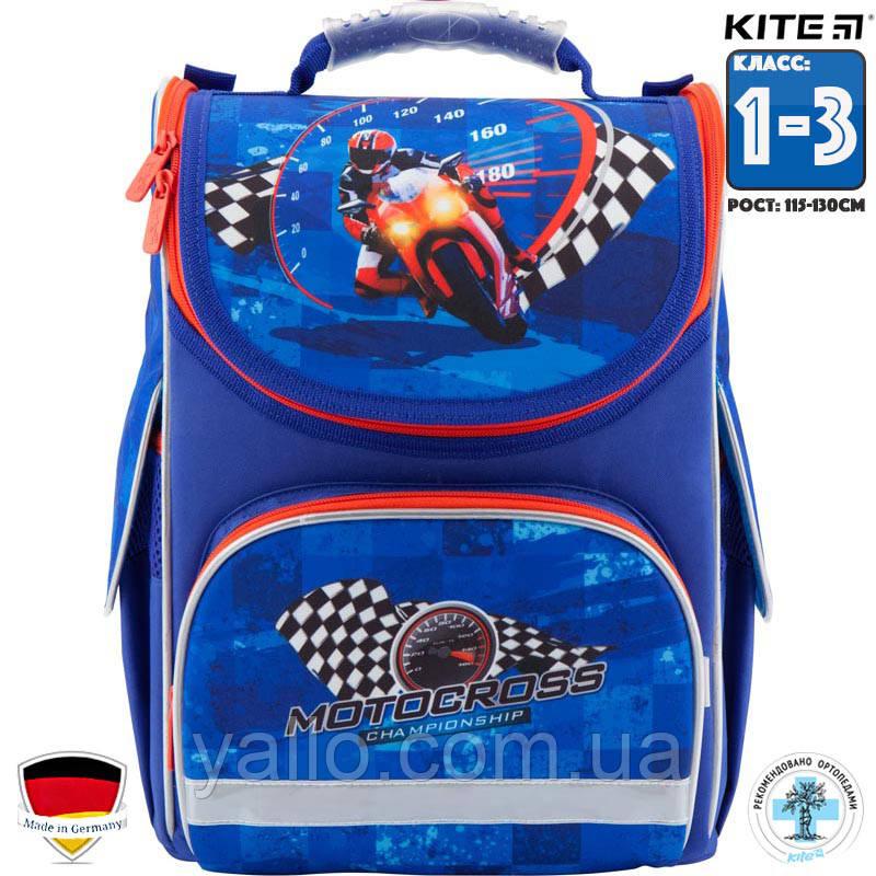 Рюкзак ортопедический   школьный каркасный Kite Motocross (K18-501S-4) Для Младших классов (1-3)