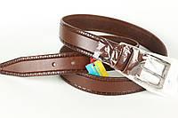 Ремінь шкіряний брючний King Belts 35 мм з тисненням