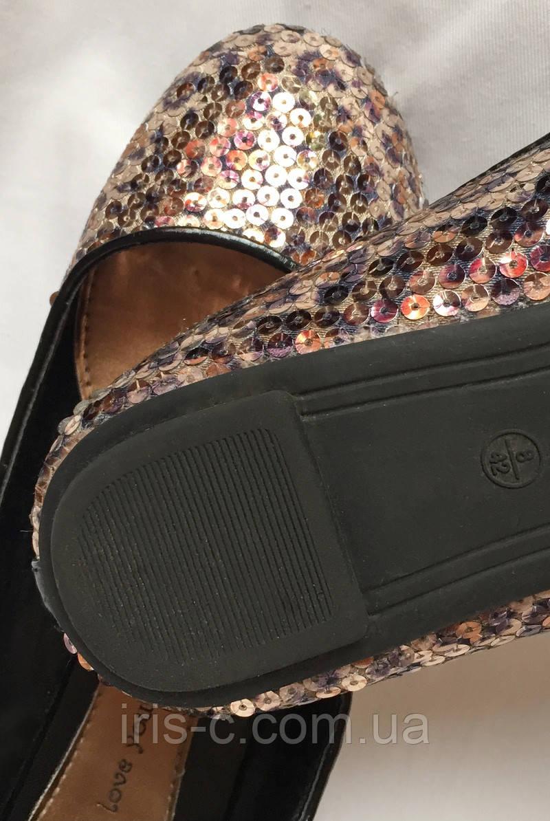 231923e43 Тапочки балетки женские, с пайетками, большой размер 41/42: продажа ...