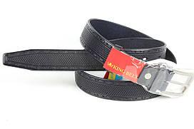 Ремень кожаный брючный King Belts 35 мм с тиснением