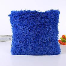 Наволочка з довгим ворсом синя (50х50)
