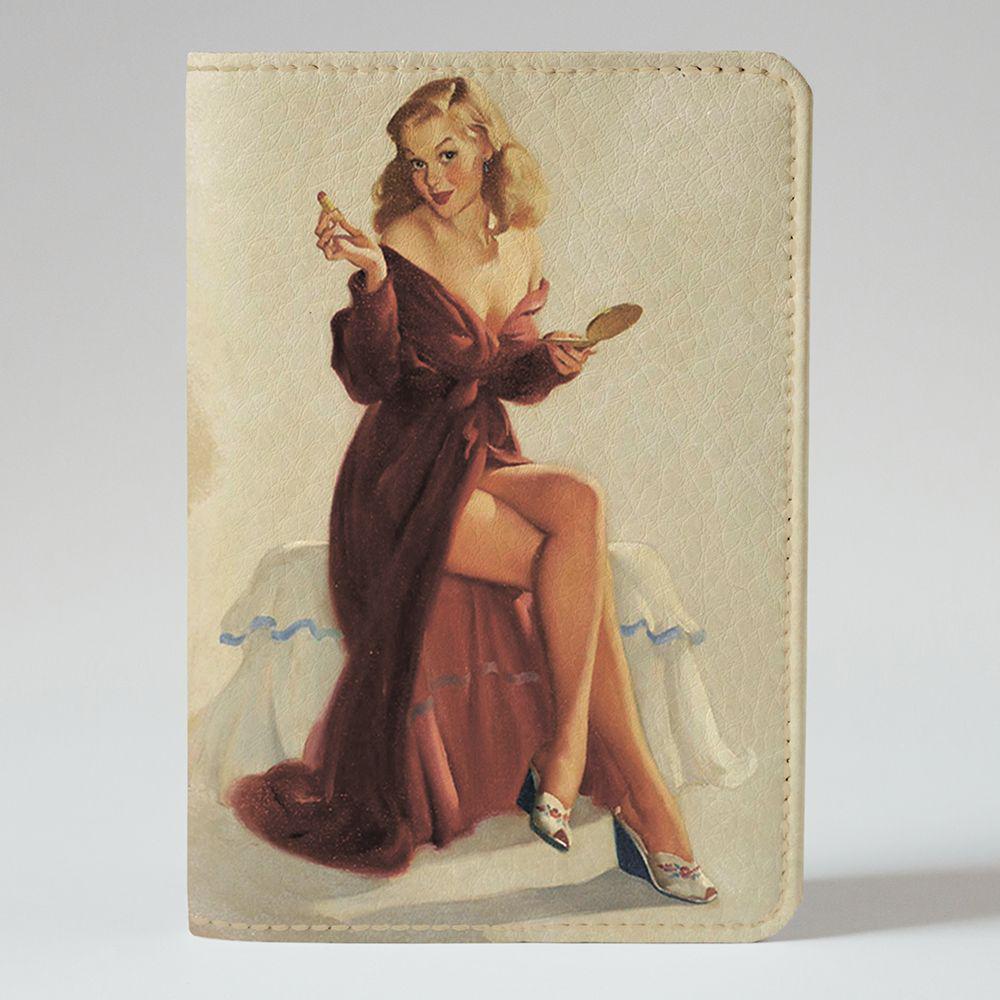 Обложка на паспорт v.1.0. Fisher Gifts 556 Пин-ап. На свидание (эко-кожа)