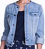 Джинсовая куртка без воротника короткая для женщин CHAPS (США) Голубой, фото 2
