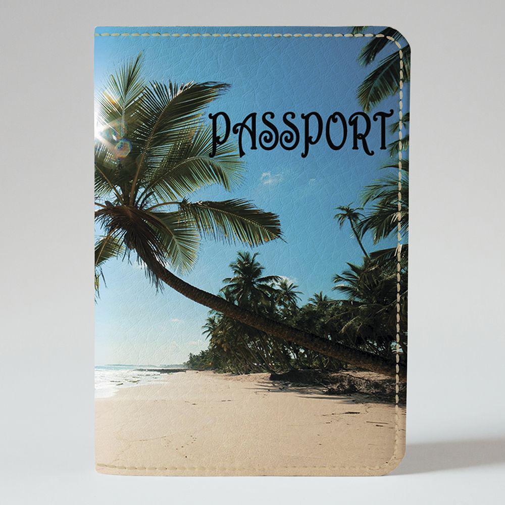 Обложка на паспорт Fisher Gifts 581 Пальма на побережье (эко-кожа)